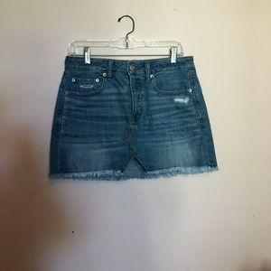 American Eagle Light Wash Denim Skirt